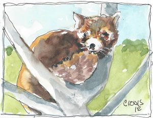 """Cute Animal,"" a Bring-a-Smile watercolor by Clovis Heimsath, artist"