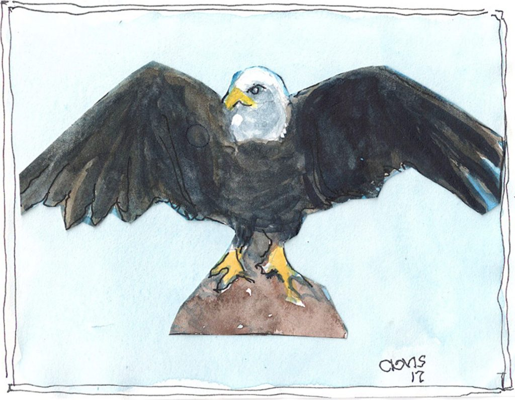 """Eagle,"" a Bring-a-Smile watercolor by Clovis Heimsath, artist"