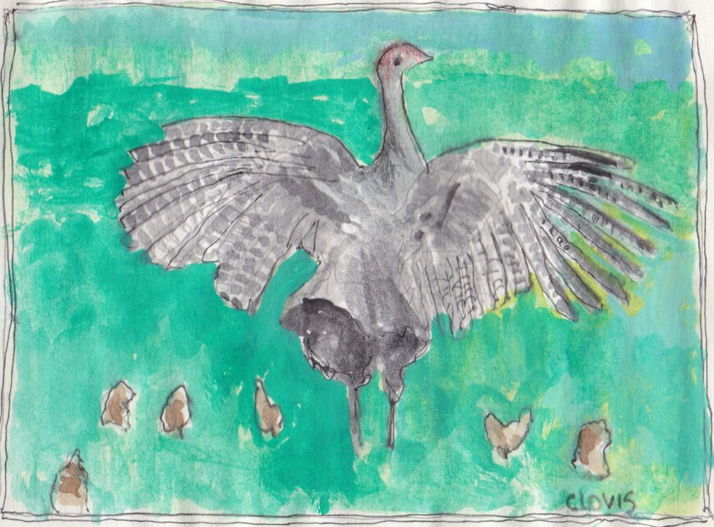 """Turkey Buzzard,"" a Bring-a-Smile watercolor by Clovis Heimsath, artist"