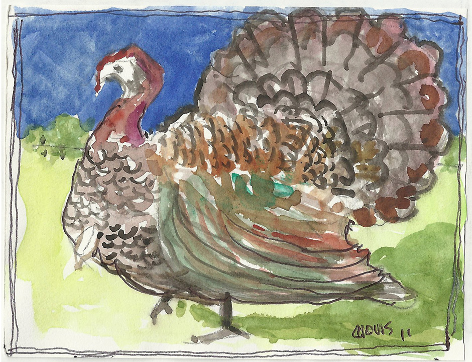 """Turkey,"" a Bring-a-Smile watercolor by Clovis Heimsath, artist"