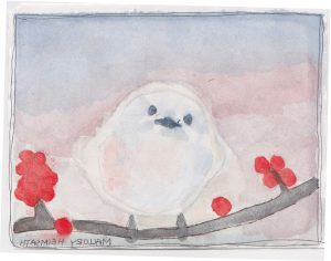 """White Bird,"" a Bring-a-Smile watercolor by Mallory Heimsath, artist"