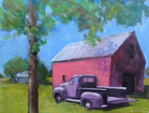 """Benton Barn,"" a painting by Clovis Heimsath, artist (Architecture)"