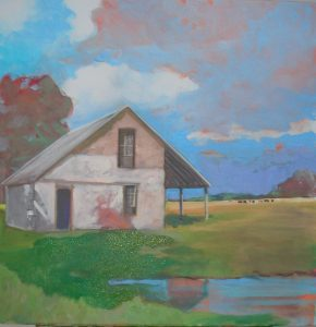 """""""Country Home 4 Me,"""" a painting by Clovis Heimsath, artist (Architecture)"""