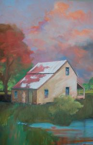 """""""Country Home 6,"""" a painting by Clovis Heimsath, artist (Architecture)"""