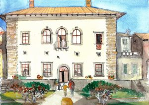 """Tuscany 05 Siena,"" a painting by Clovis Heimsath, artist (Architecture)"