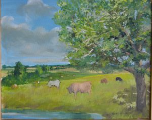 """Country Scene,"" a painting by Clovis Heimsath, artist (Landscapes)"