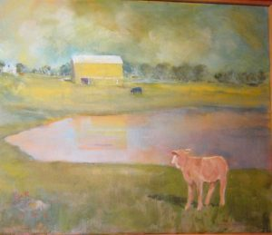 """Lost Calf,"" a painting by Clovis Heimsath, artist (Landscapes)"