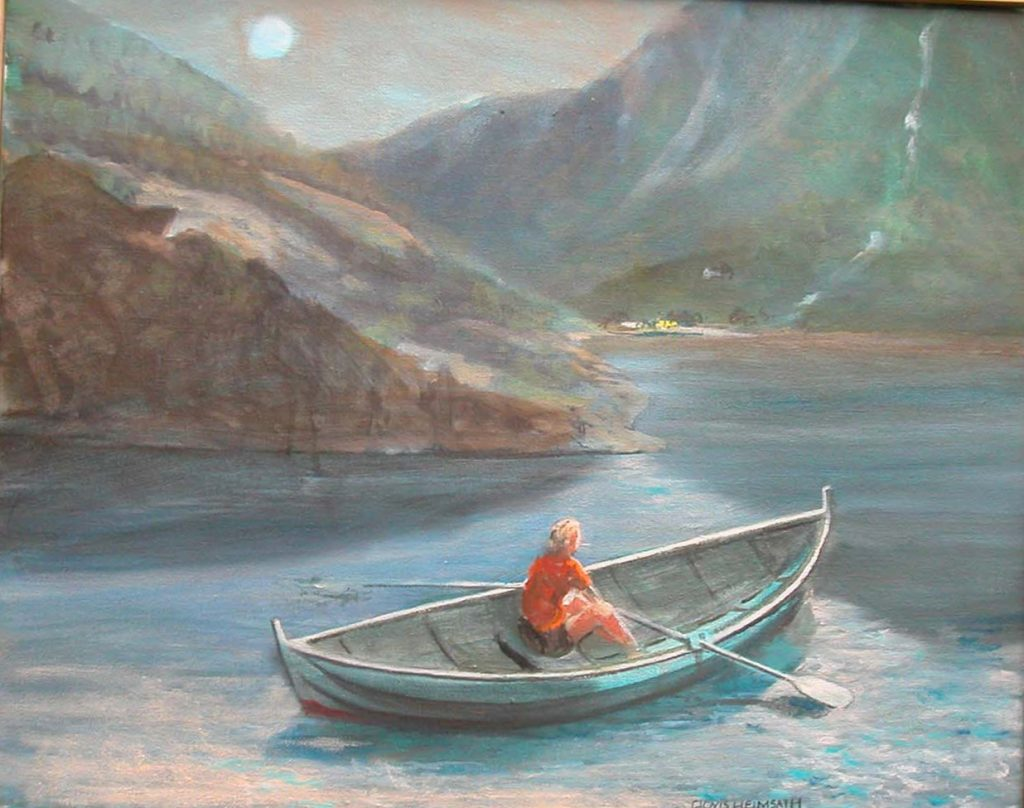 """Norway Boat,"" a painting by Clovis Heimsath, artist"