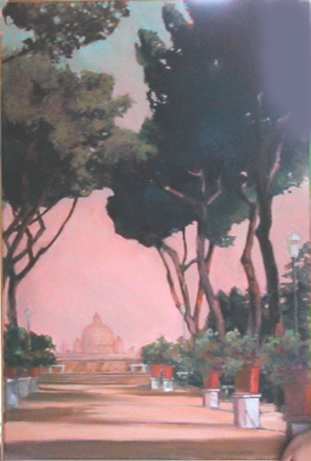 """Rome K And C,"" a painting by Clovis Heimsath, artist (Landscapes)"