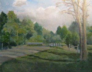 """""""Schumacher Rd,"""" a painting by Clovis Heimsath, artist (Landscapes)"""