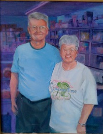 """Jerry And Shirley,"" a painting by Clovis Heimsath, artist (People)"