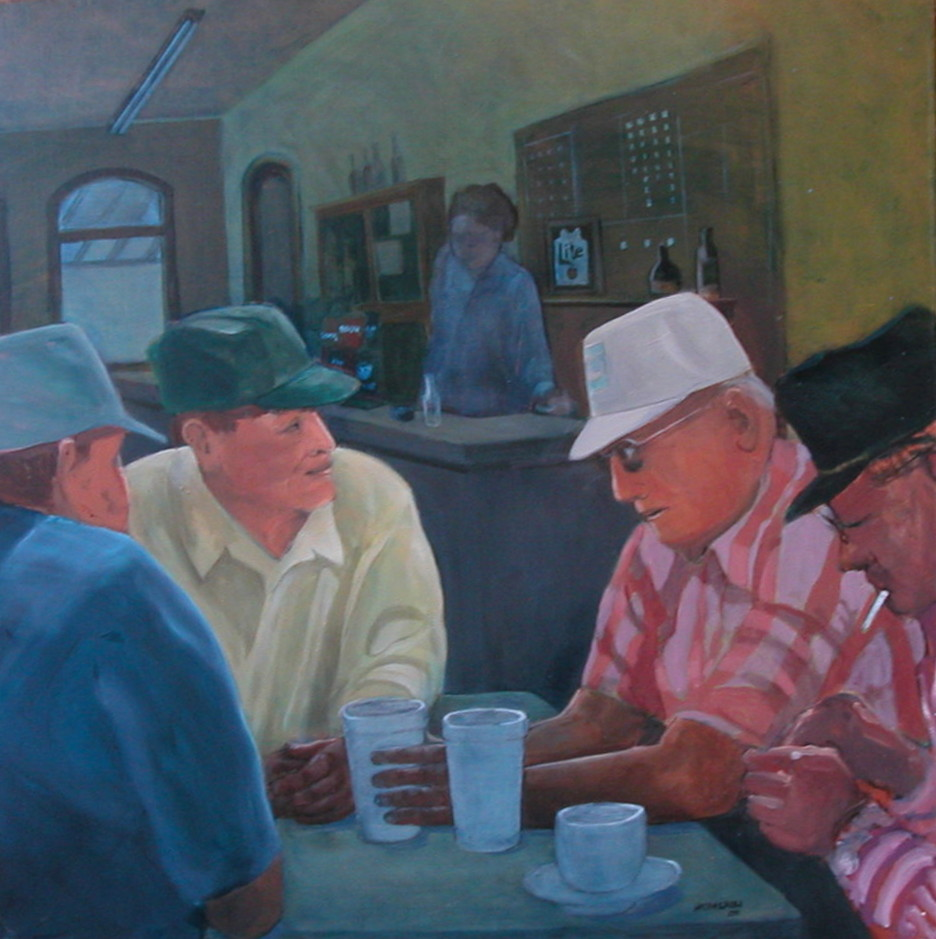 """Morning Coffee,"" a painting by Clovis Heimsath, artist"