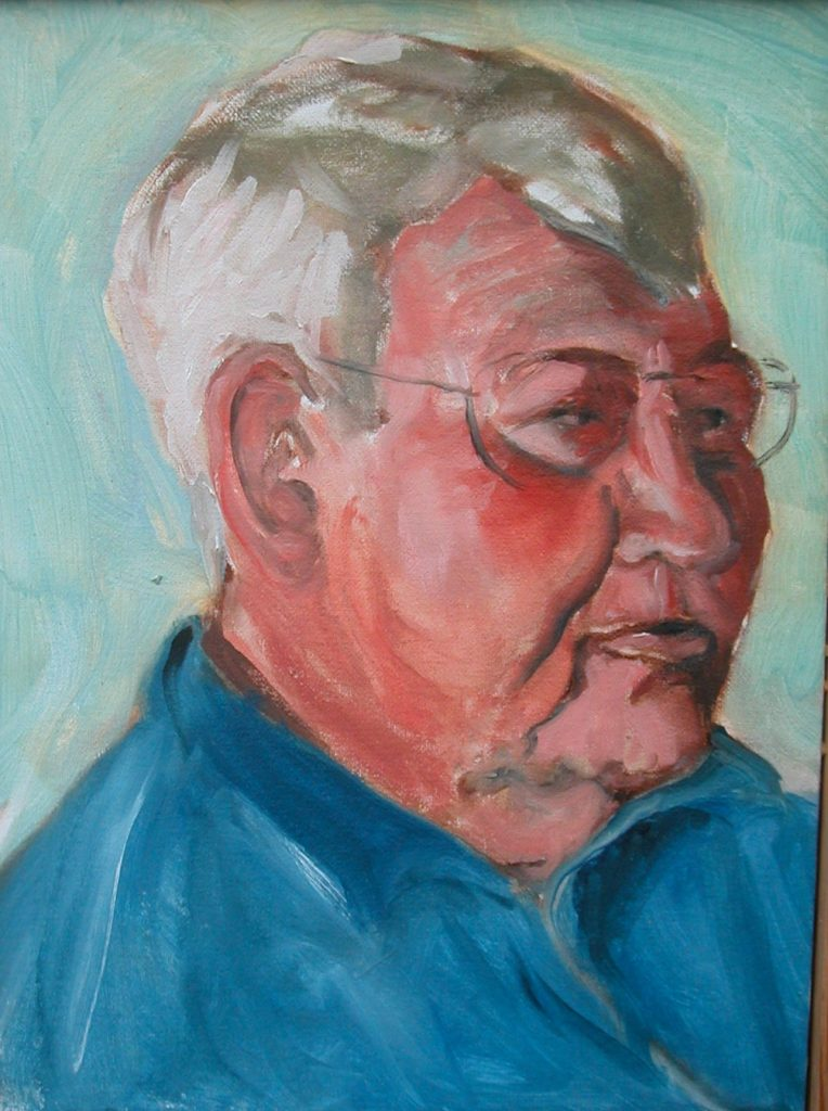 """Tom,"" a painting by Clovis Heimsath, artist"